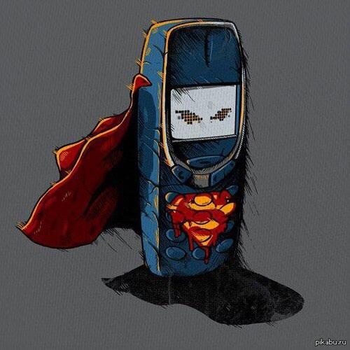 Телефон из стали.   Телефон, superman, прочность, Nokia 3310, человек из стали