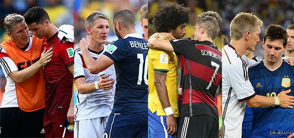 Все те, кого на этом ЧМ утешал Швайнштайнгер На этот раз, после финала, Басти утешал Лео Месси  Швайнштайгер, Бастиан Швайнштайгер, футбол, германия-аргентина, чемпионат мира по футболу